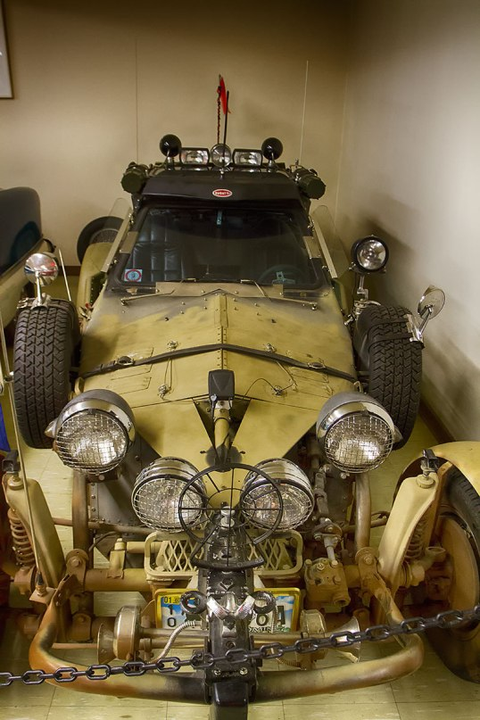 "A custom VW dune buggy. It was a 1973 beetle, modified in Australia for the movie, ""The Road Warrior."" Pretty cool looking car!"